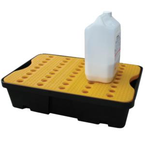 Bac de rétention PEHD avec caillebotis anti dérapant