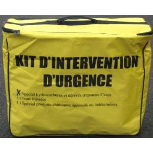 Kit absorbant antipollution , jusqu'à 50 litres