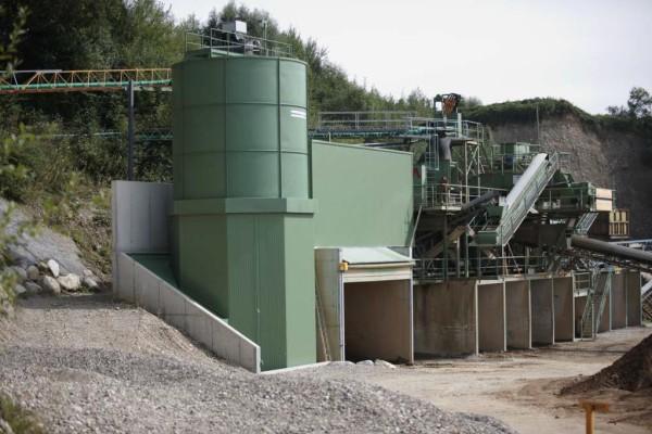 Station de traitement des eaux usées du lavage des matériaux